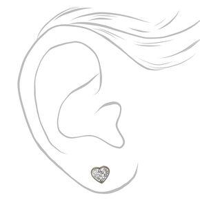Titanium Heart Stud Earrings,
