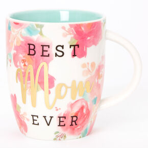 Best Mom Ever Roses Floral Ceramic Mug - Pink,