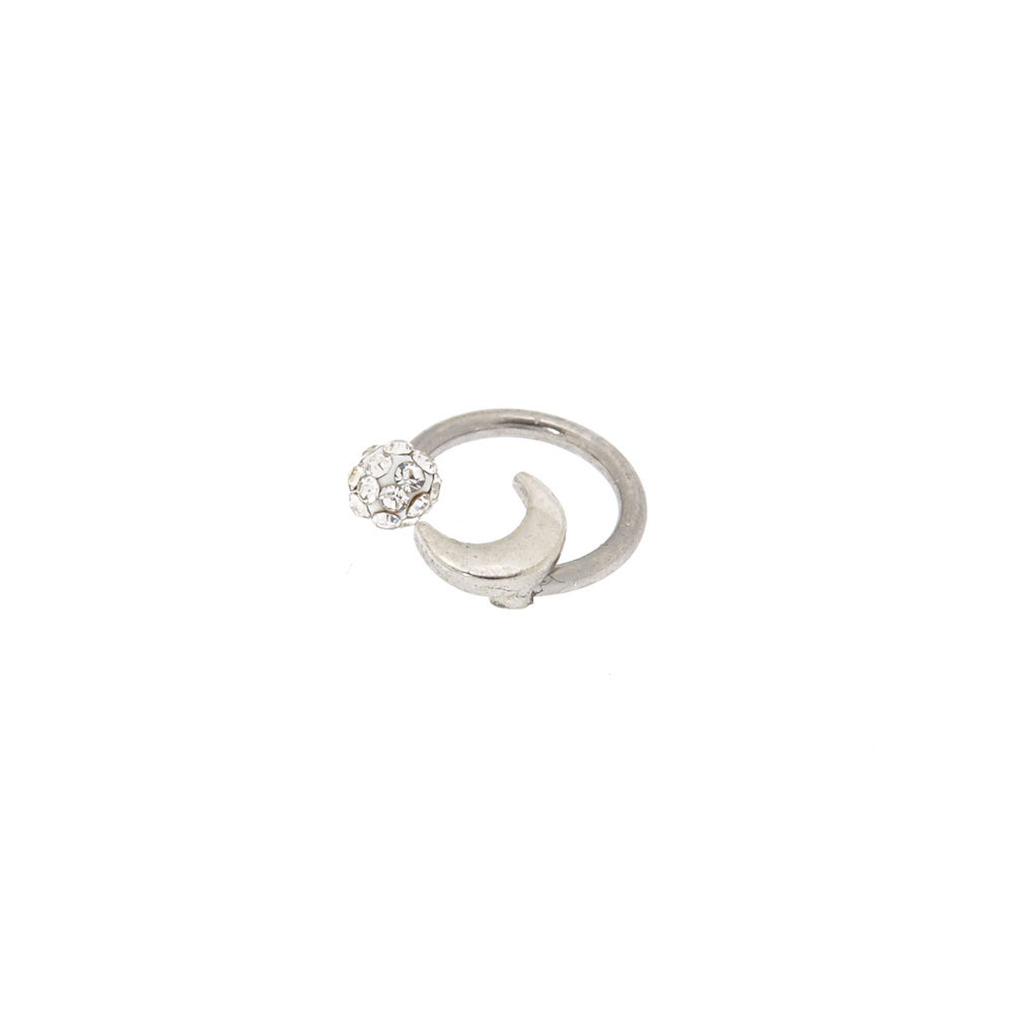 Moon Fireball Horseshoe Cartilage Earring