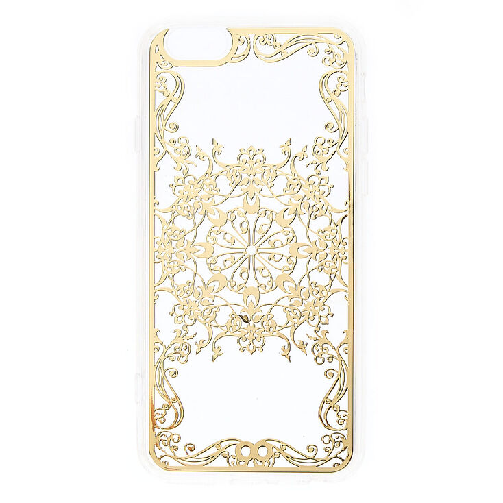 Gold Filigree Phone Case - Fits iPhone 6/6S,