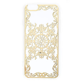 Gold Filigree Phone Case - Fits iPhone 6/6S Plus,