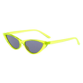 Neon Cat Eye Sunglasses - Yellow,