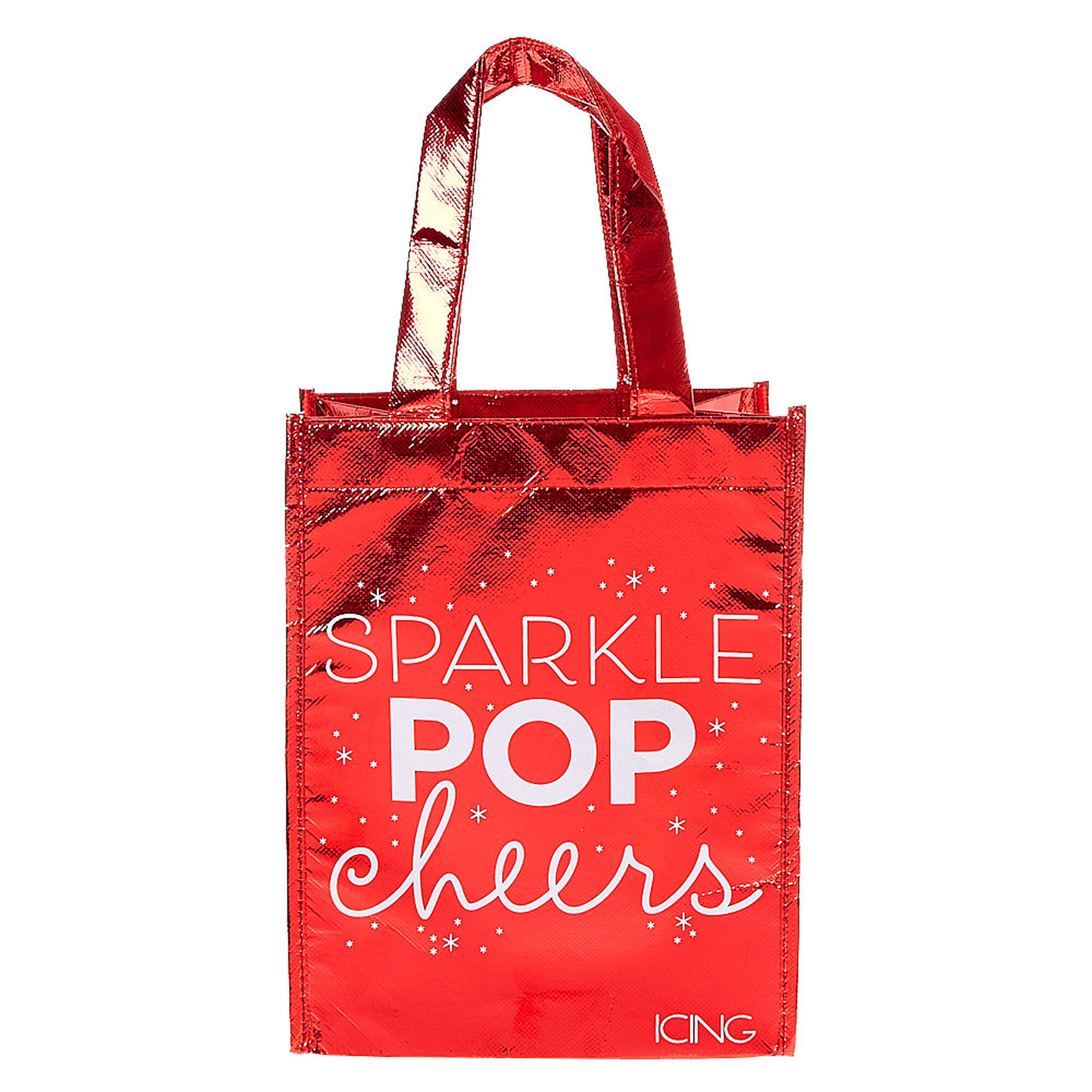 Holiday Sparkle Small Reusable Tote Bag