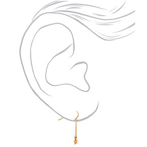 "18kt Gold Plated 1"" Celestial Drop Earrings,"