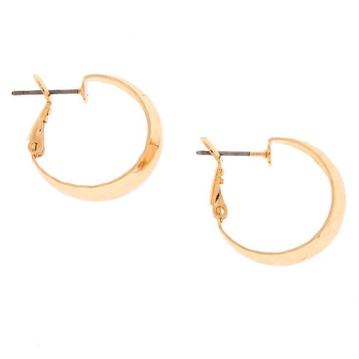 Gold 20MM Hammered Hoop Earrings,