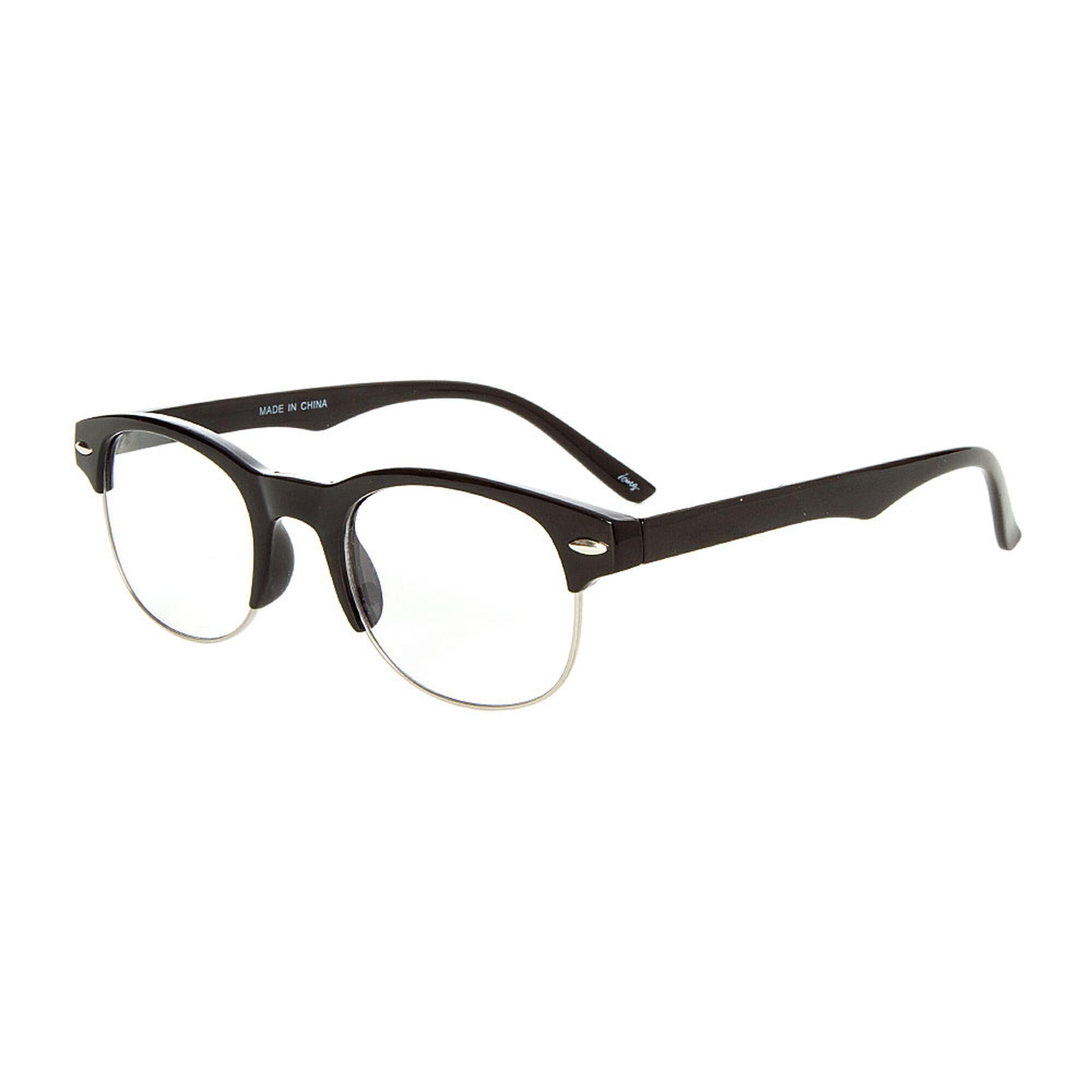 Black Half Frame Fashion Glasses | Icing US