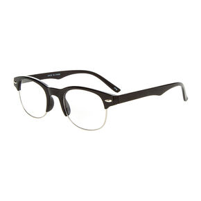 Black Half Frame Fashion Glasses,