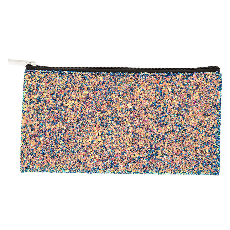 Glitter Pencil Case - Blue,
