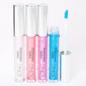 Holographic Lip Gloss Set - 4 Pack,