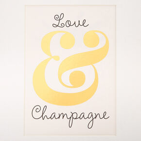 Love & Champagne Mini Wall Art,