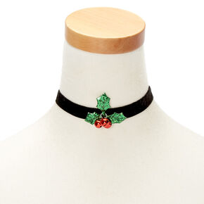 Velvet Holly Choker Necklace,