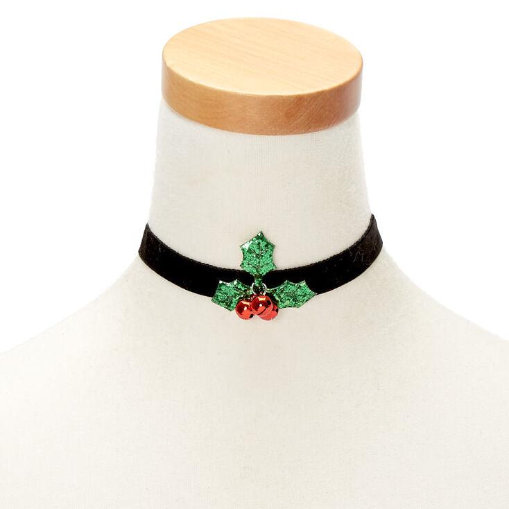 Velvet Holly Choker Necklace,