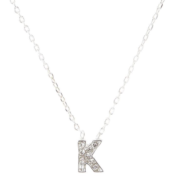 K Pendant Initial Necklace,