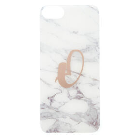 """Marble """"O"""" Initial Phone Case,"""