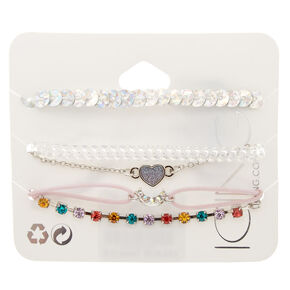5 Pack Assorted Shine Bracelet Set,