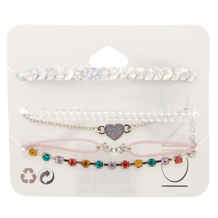 5 Pack Assorted Shine Bracelet Set,