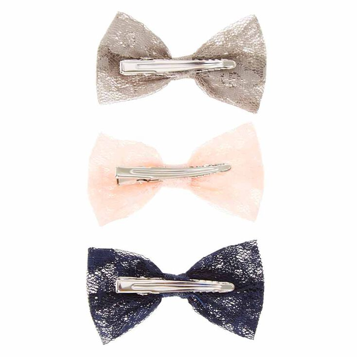 Mini Lace Bow Hair Clips,