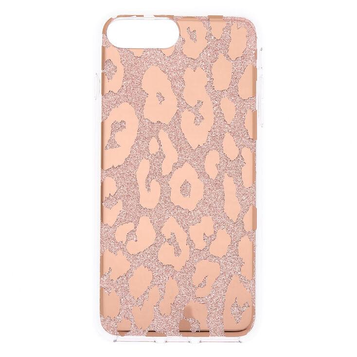 Glitter Leopard Print Phone Case - Fits iPhone 6/7/8 Plus,