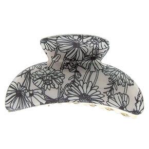 Sunflower Hair Claw - Gray,
