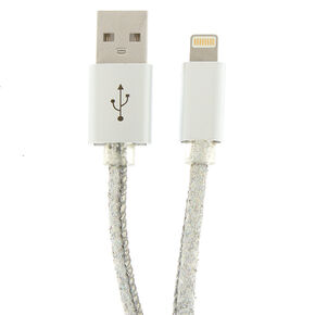Holographic Lightning USB Cord - Silver,