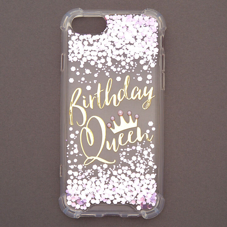 Birthday Queen Confetti Phone Case - Fits iPhone 6/7/8/SE,