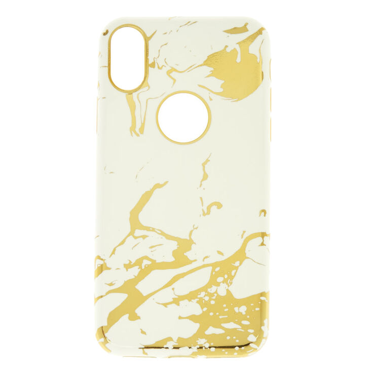 Metallic Gold Marble Phone Case,