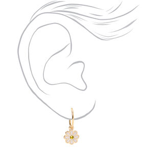 Gold Butterfly Daisy Mixed Earrings - 6 Pack,