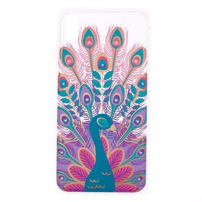 Crystal Peacock Phone Case - Fits iPhone XS Max,