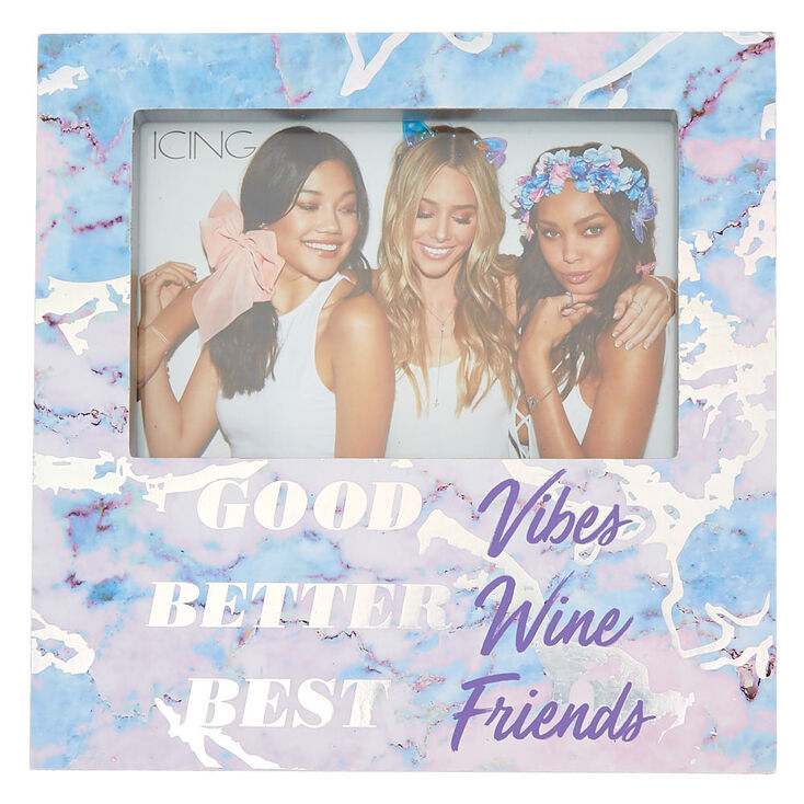 Holographic Marble Best Friends Photo Block - White,