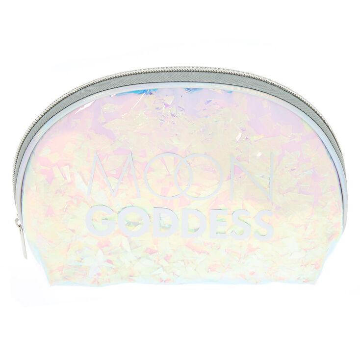 Holographic Moon Goddess Makeup Bag - Silver,