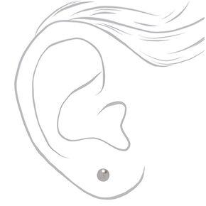 Silver Pearl Stud Earrings - 3 Pack,