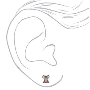 Sterling Silver Koala Stud Earrings,