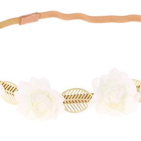 Gold Leaf Flower Headwrap,