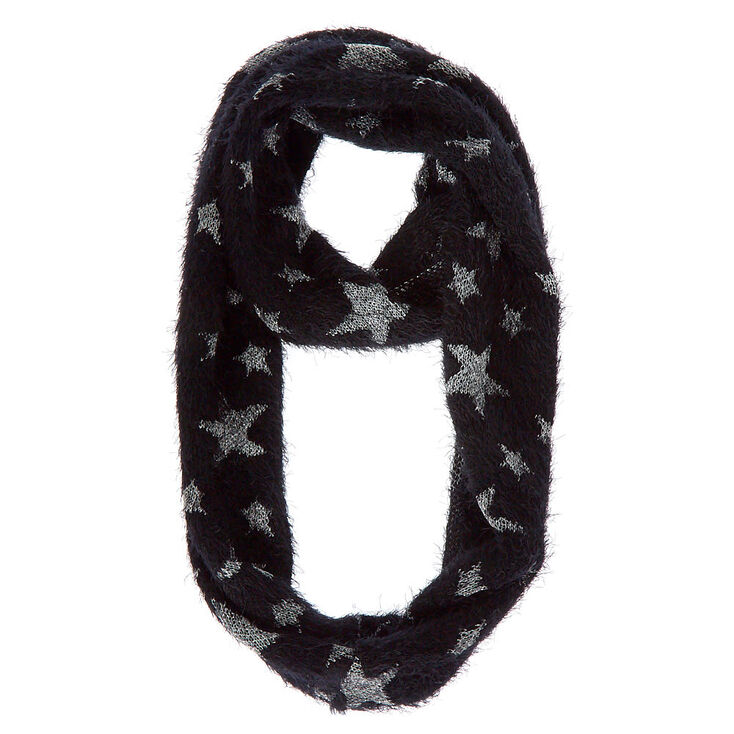 Stars Infinity Scarf - Black,