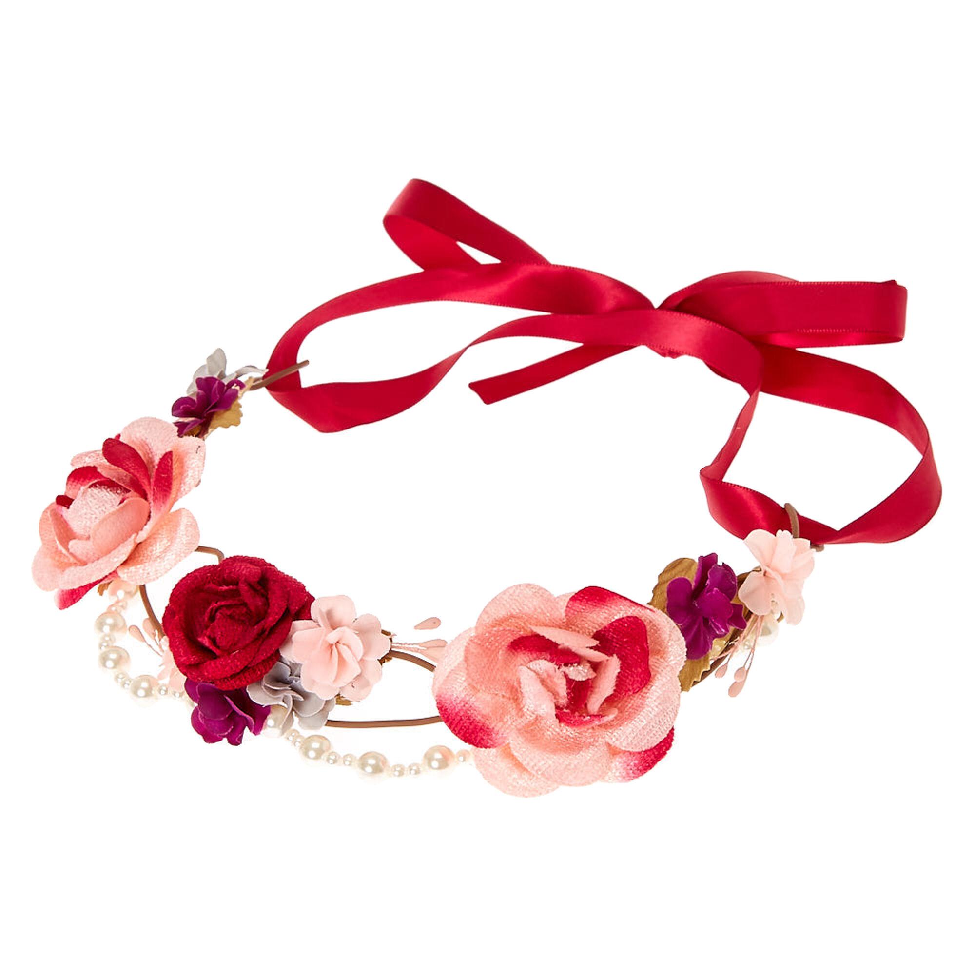 Pearl pink tones flower crown headwrap icing us pearl pink tones flower crown headwrap izmirmasajfo