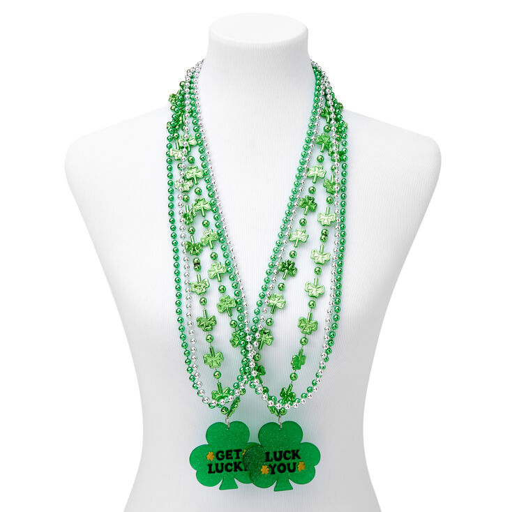 St. Patrick's Day Luck You Beads - Green,