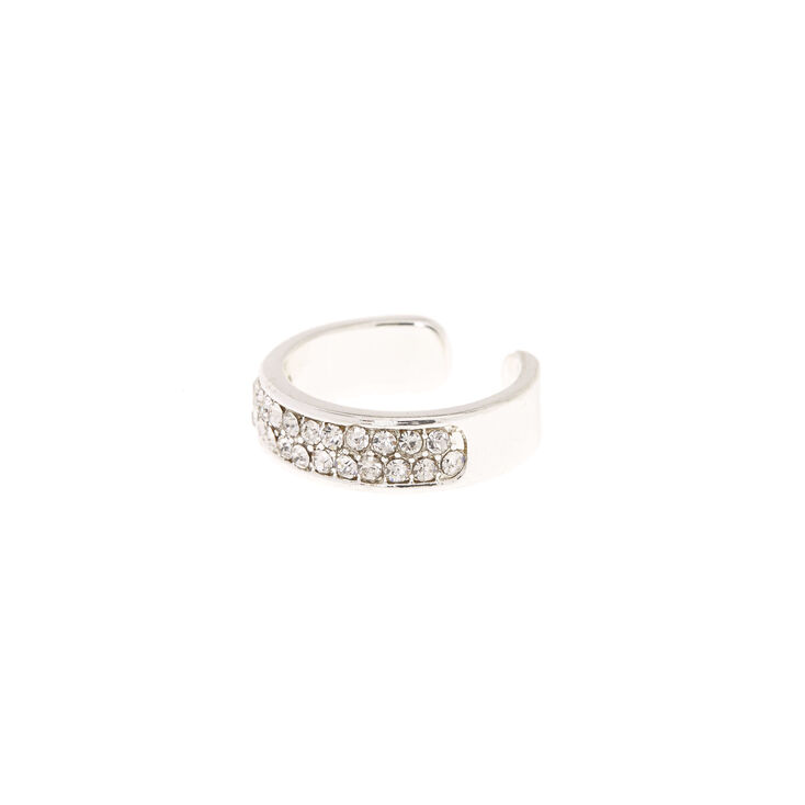 Silver Pave Crystal Toe Ring,