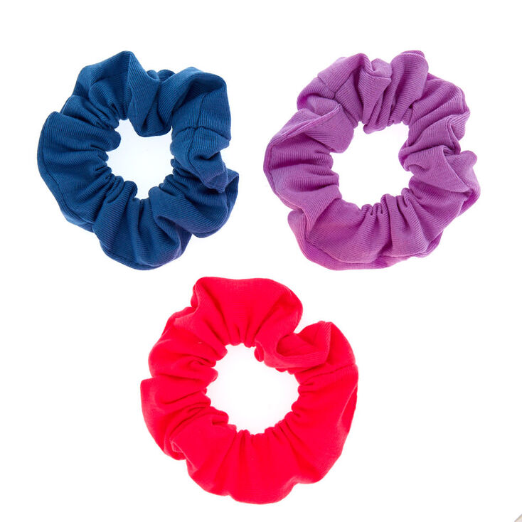Small Neon Retro Hair Scrunchies - 3 Pack,