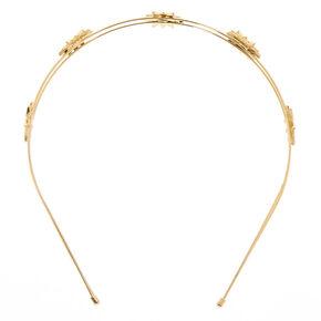 Gold Starburst Double Row Headband,