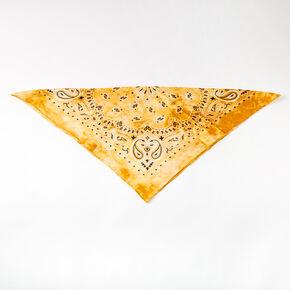 Silky Tie Dye Bandana Headwrap - Yellow,