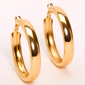 Gold 50MM Tube Hoop Earrings,