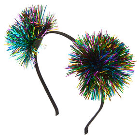 Rainbow Tinsel New Years Eve Headband,