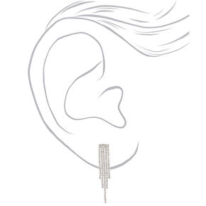 Silver Rhinestone Waterfall Jewelry Set - 2 Pack,