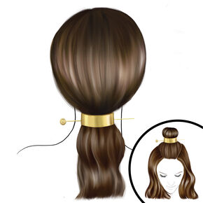 Gold 2 Way Cuff Hair Tools Kit,