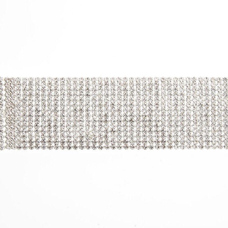 Silver Rhinestone Fringe Chain Bracelet,