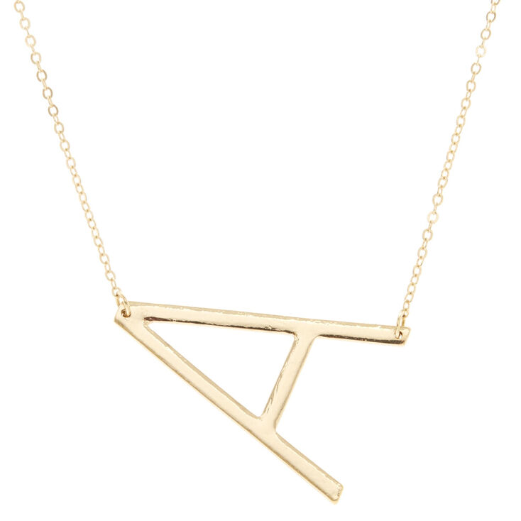 "XL ""A"" Initial Pendant Necklace,"