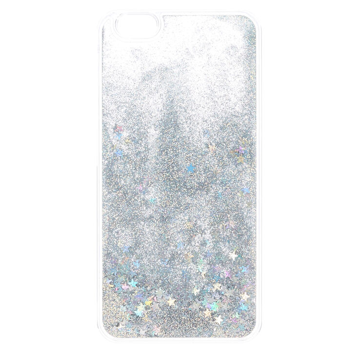 Iridescent Star & Glitter Liquid Fill Phone Case - Fits iPhone 6/6S,