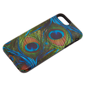 Peacock Feathers Protective Phone Case - Fits iPhone 6/7/8 Plus,