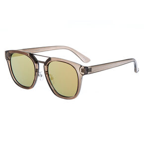 Square Brow Bar Sunglasses - Black,