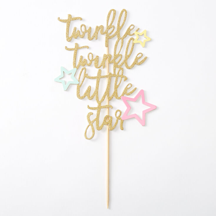 Twinkle Twinkle Little Star Cake Topper,